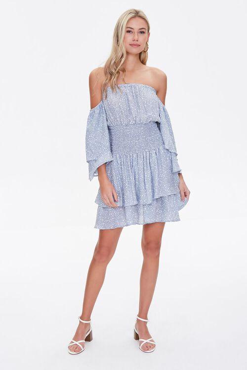Spotted Off-the-Shoulder Dress, image 4