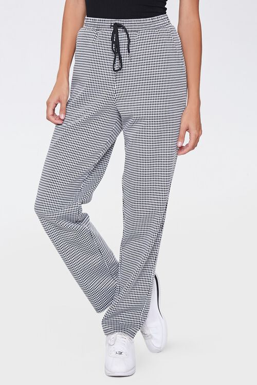 Houndstooth Wide-Leg Pants, image 2