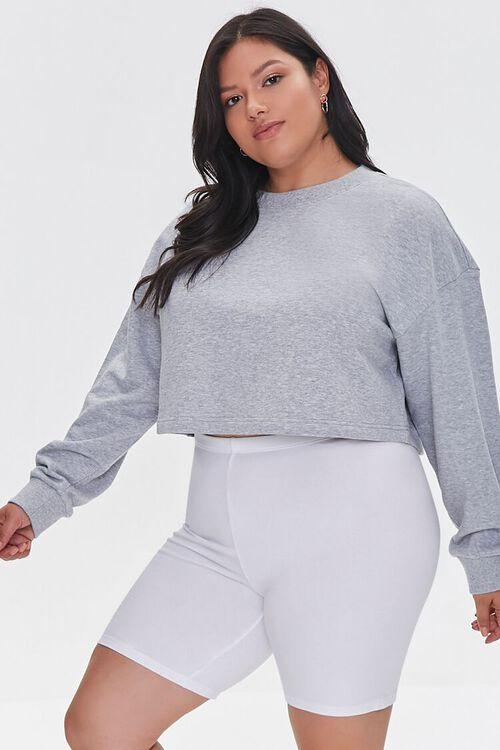 Plus Size Organically Grown Cotton Basic Biker Shorts, image 1