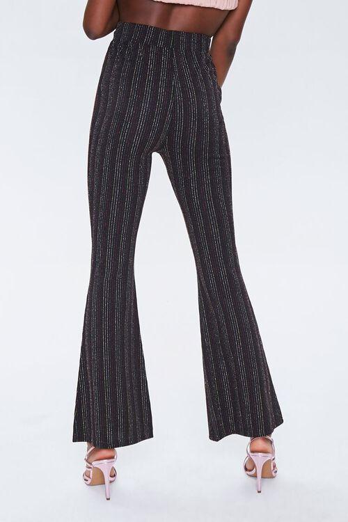 Metallic Pinstriped Flare Pants, image 3