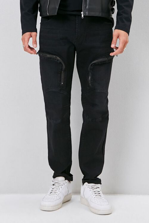 Zip-Pocket Skinny Jeans, image 2