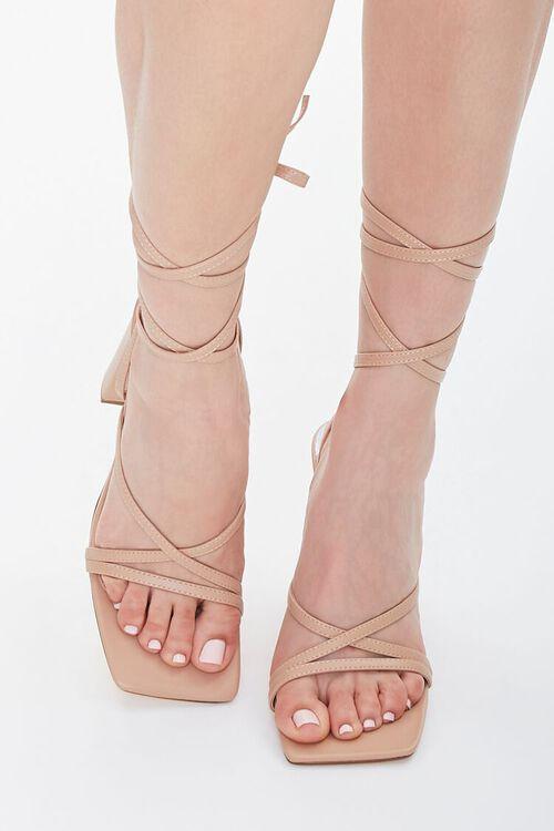 Strappy Wraparound Block Heels, image 4