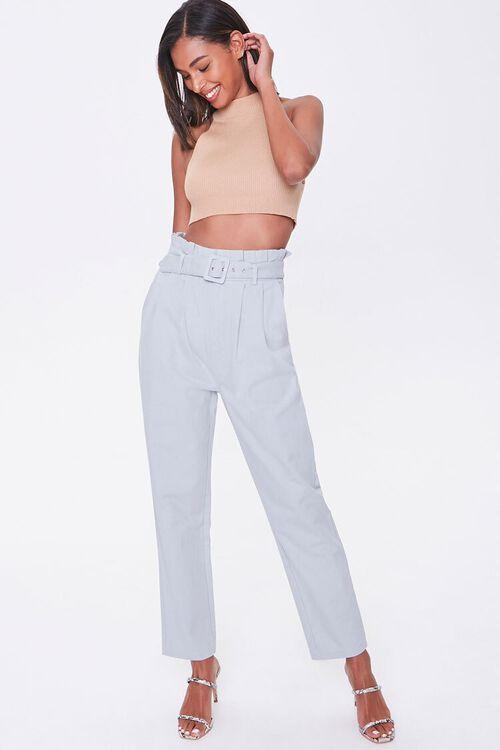 Paperbag Belted Pants, image 1