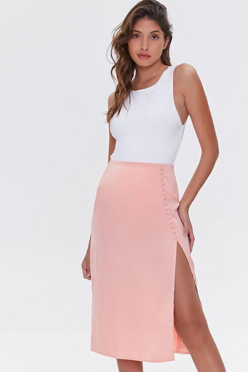 Button-Front Slit Skirt, image 1