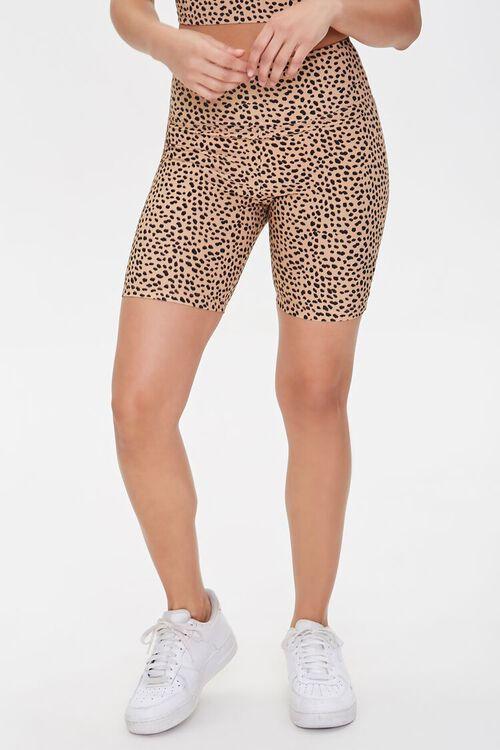 Active Cheetah Print Biker Shorts, image 2