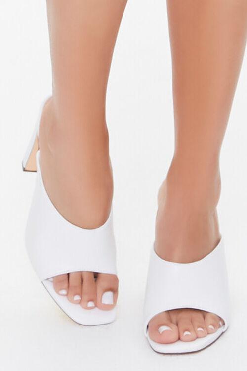 WHITE Slip-On Block Heels, image 4