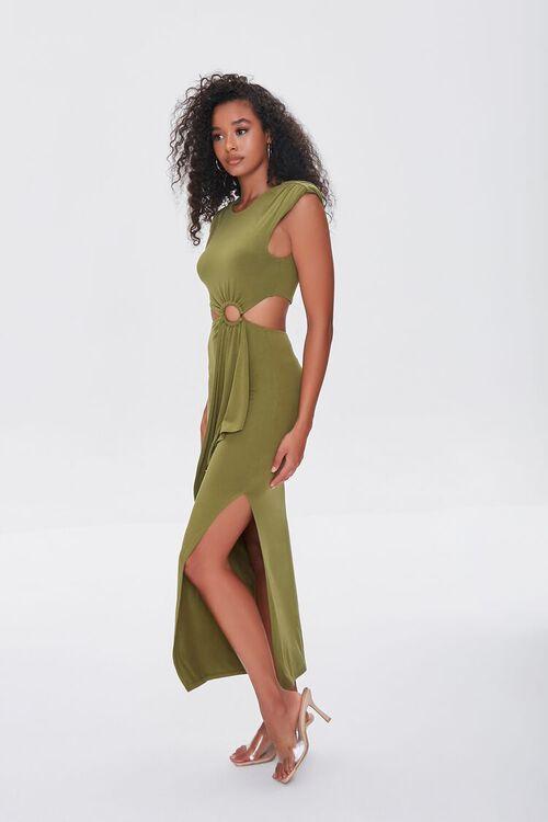 BROWN O-Ring Cutout Maxi Dress, image 2