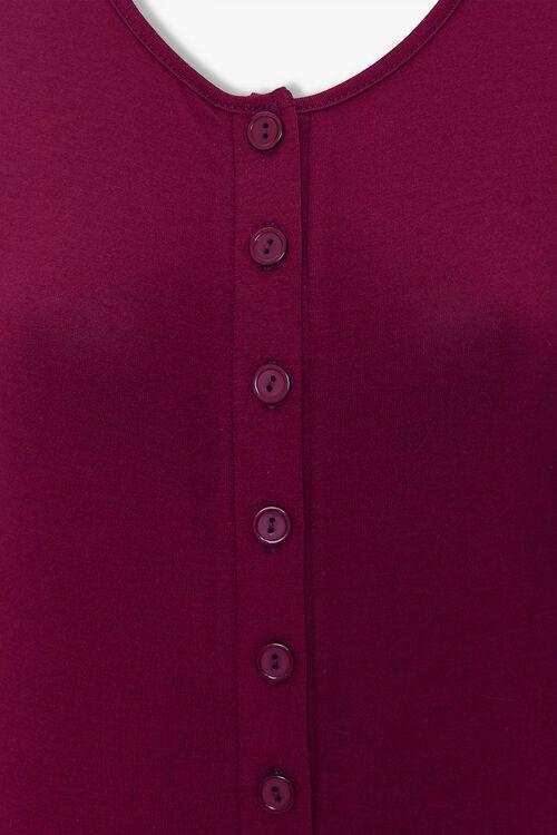 BURGUNDY Button-Front Bodysuit, image 4