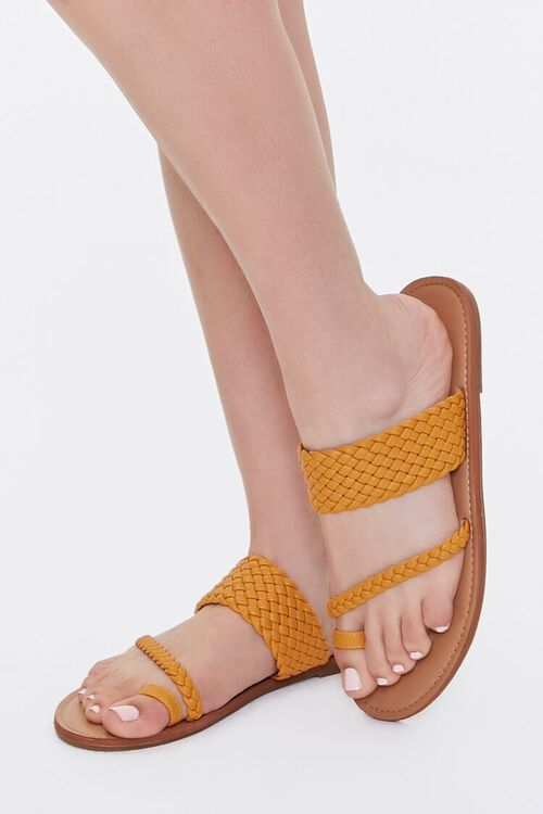 Braided Toe-Ring Flat Sandals, image 1