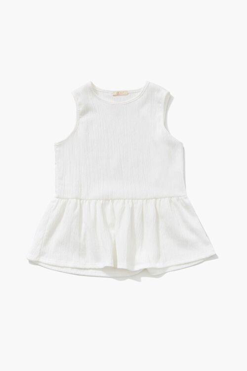 Girls Crinkled Flounce Top (Kids), image 3