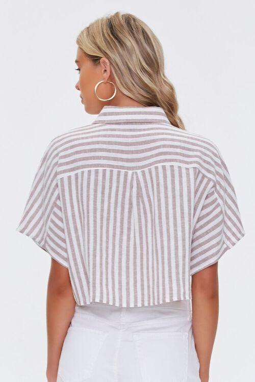 Striped Linen-Blend Shirt, image 3