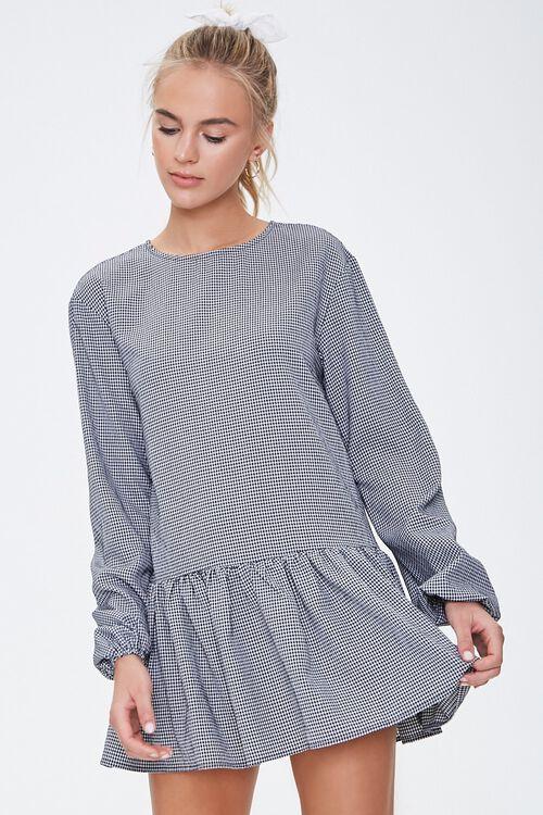 Gingham Peasant Mini Dress, image 5