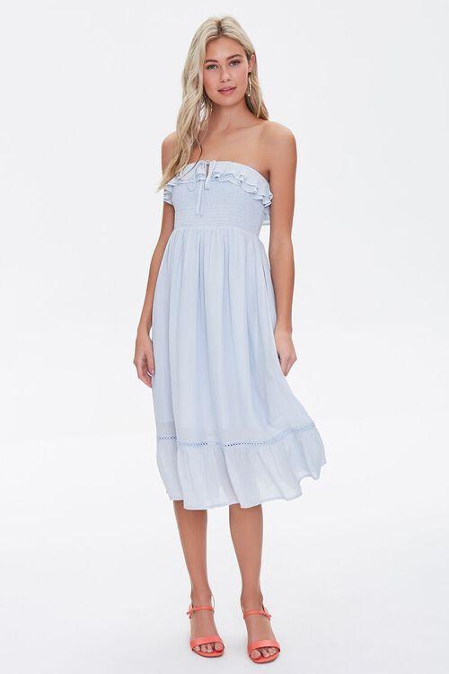 Smocked Ruffle-Trim Dress, image 4