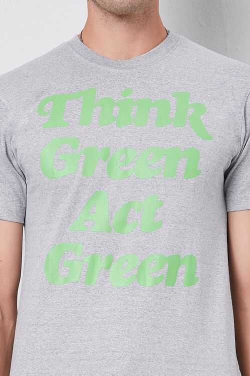 Think Green Act Green Graphic Tee, image 5