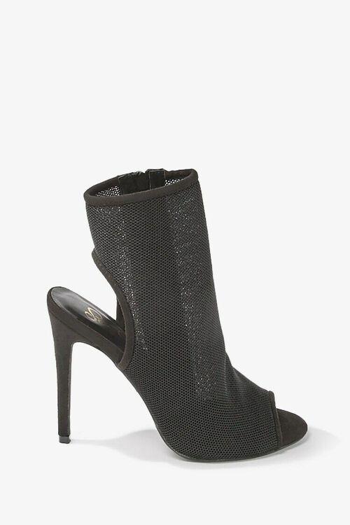 Sheer Mesh Peep-Toe Heels, image 2
