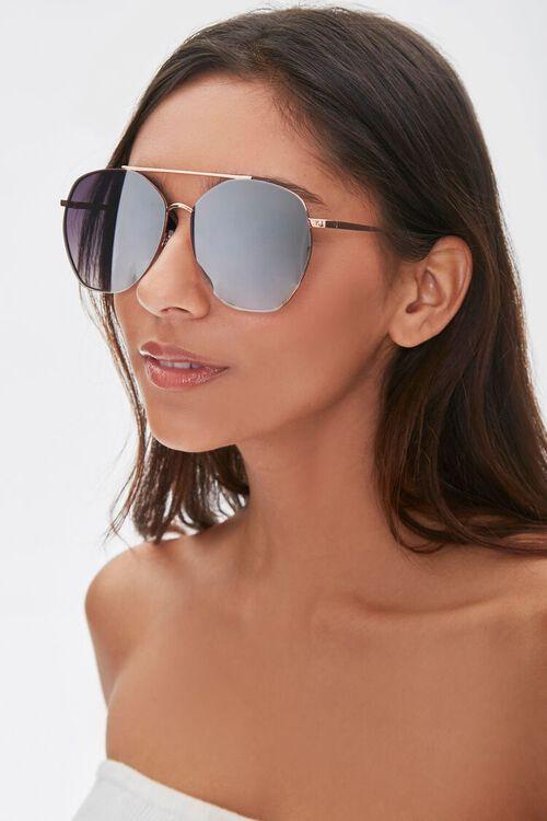 Oversized Metal Aviator Sunglasses, image 1