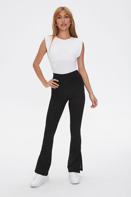 Pinstriped Flare Pants, image 4