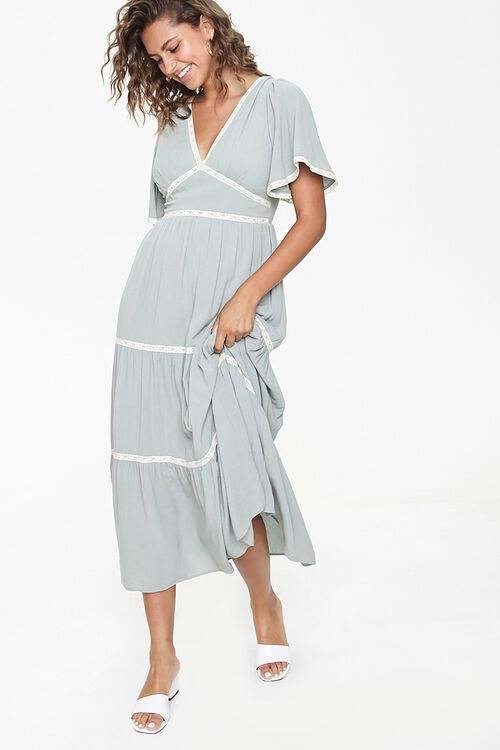 Crochet-Trim Maxi Dress, image 1