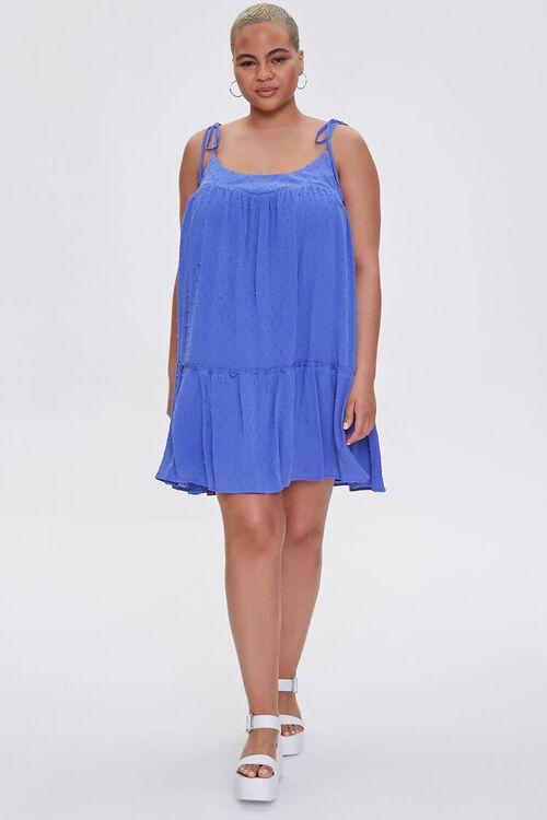Plus Size Clip Dot Mini Dress, image 4