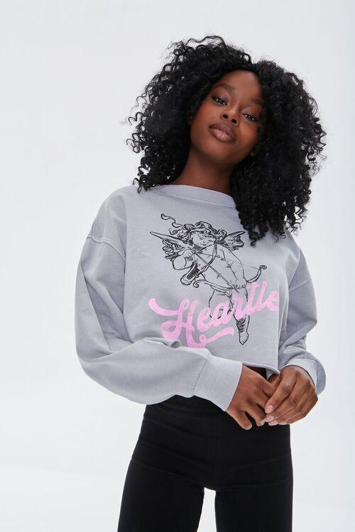 Heartless Cupid Graphic Sweatshirt, image 1