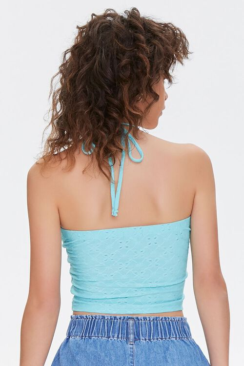 Eyelet Lace Halter Top, image 3