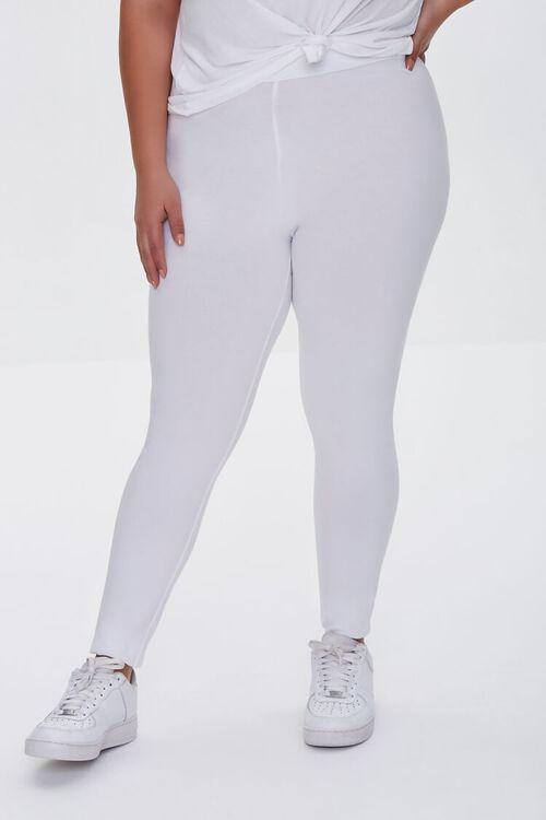 Plus Size Basic Organically Grown Cotton Leggings, image 2