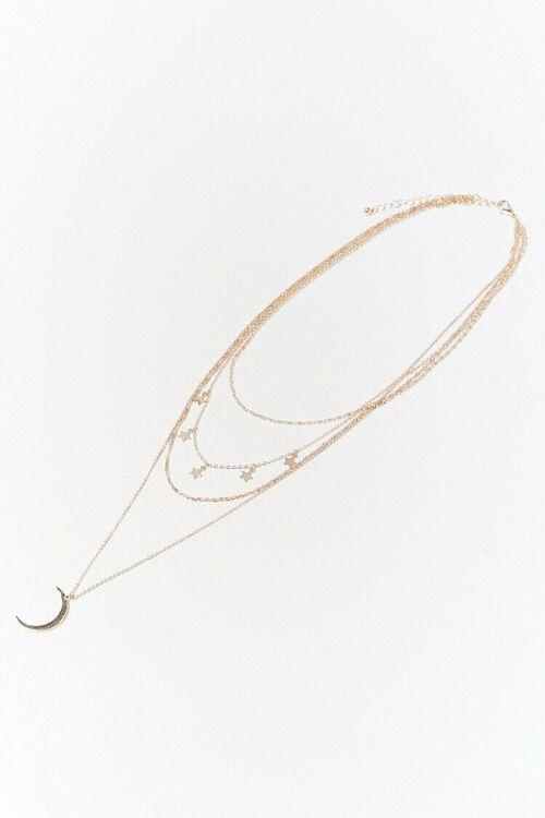 Layered Moon Pendant Necklace, image 1