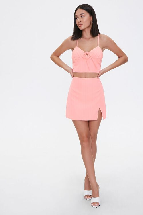 BLUSH/WHITE Sweetheart Cami & Mini Skirt Set, image 4