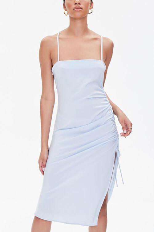 Satin Crisscross Slip Dress, image 1