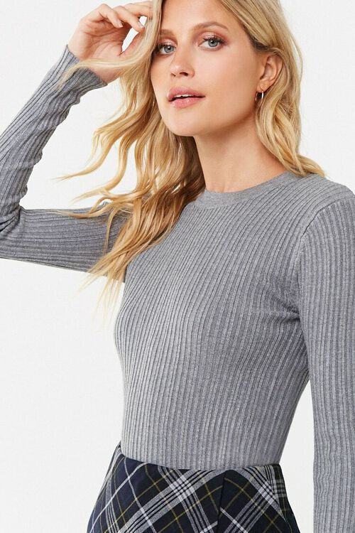 Ribbed Round Neck Sweater, image 1