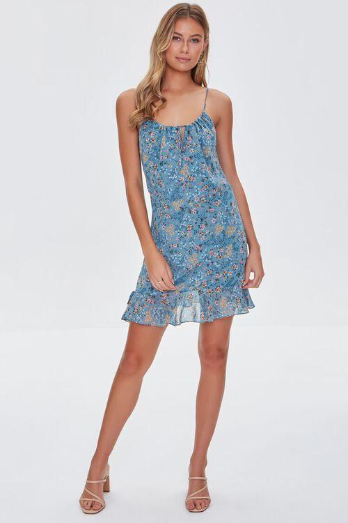 BLUE/MULTI Floral Print Cami Dress, image 4