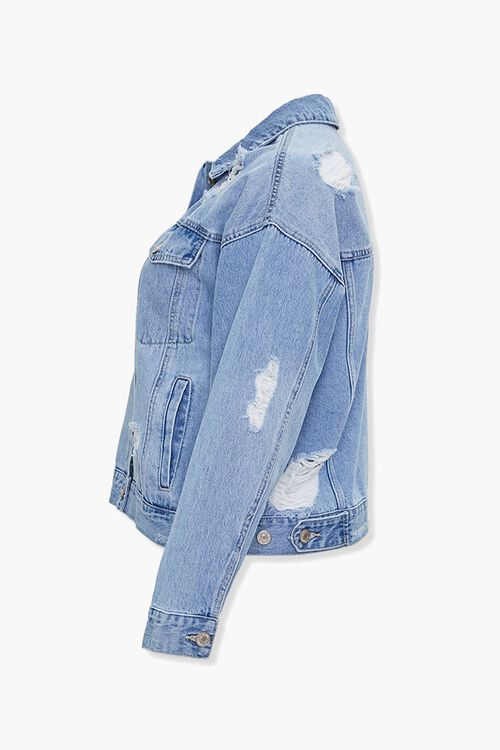 Plus Size Distressed Denim Jacket, image 2