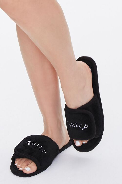 Juicy Graphic Fuzzy Slippers, image 1