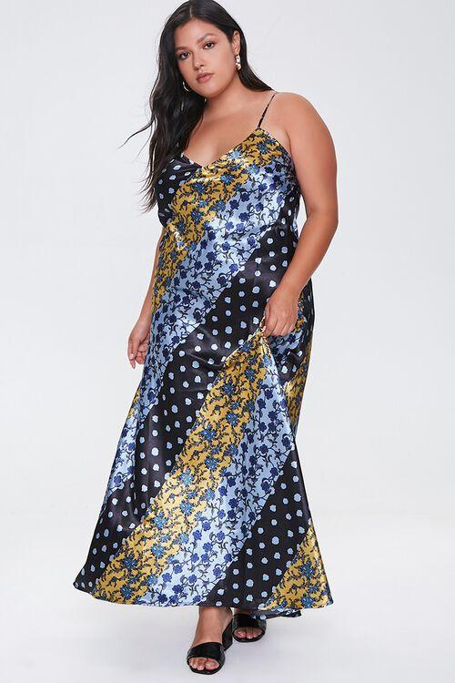 Plus Size Patchwork Maxi Dress, image 1