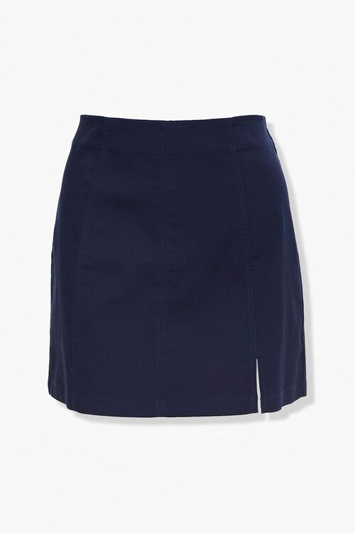 Plus Size Vented Mini Skirt, image 1