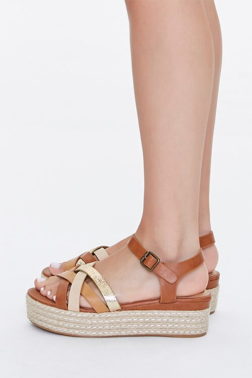 Strappy Espadrille Platform Sandals, image 2