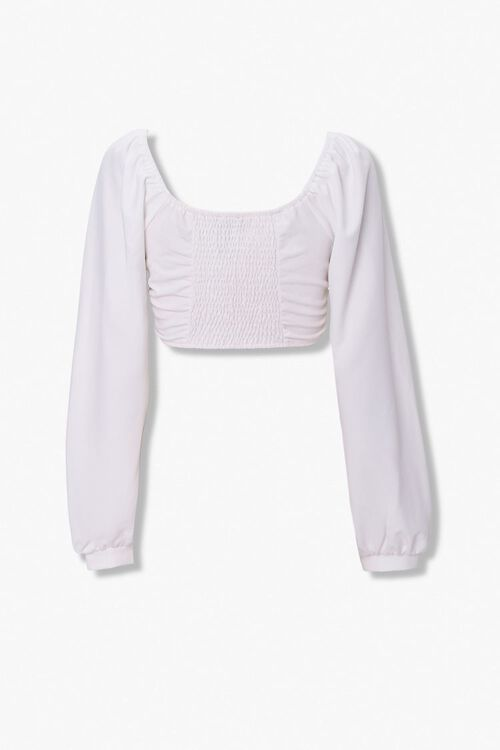 Lace-Up Peasant Crop Top, image 2