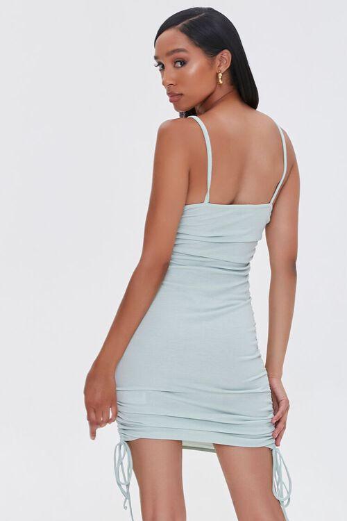 SAGE Ruched Drawstring Mini Dress, image 3