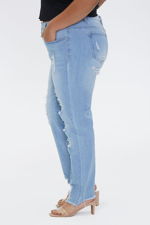 Plus Size Distressed Ankle Jeans, image 3