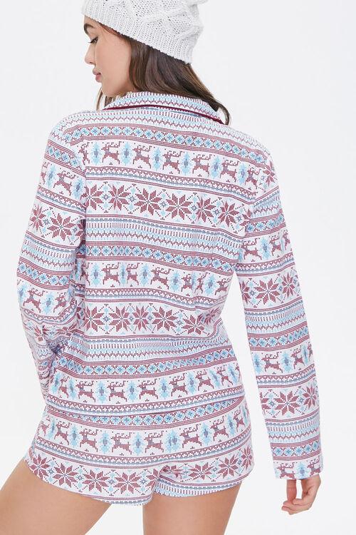 Fair Isle Print Pajama Set, image 3