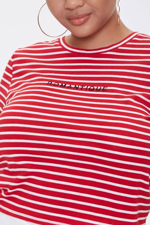 Plus Size Striped Romantique Tee, image 5