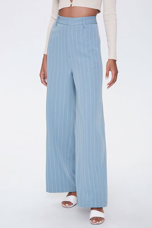 Pinstriped Wide-Leg Pants, image 2