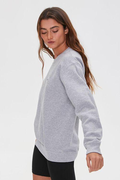 HEATHER GREY/MULTI Fleece Graphic Sweatshirt, image 2