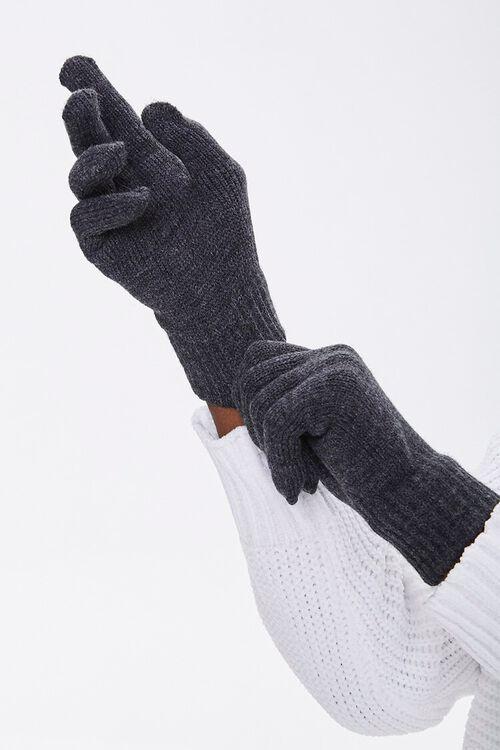 Men Ribbed-Trim Gloves, image 2