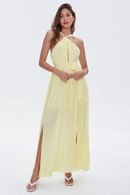 Keyhole Halter Maxi Dress, image 4