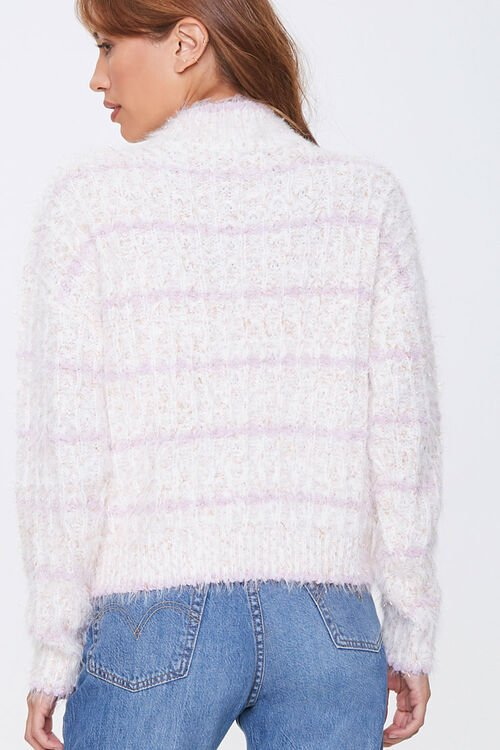 Striped Fuzzy Knit Sweater, image 3