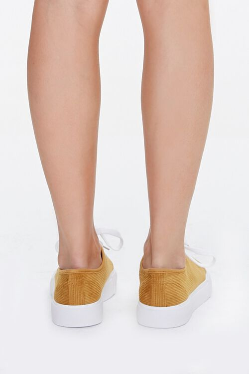 Lace-Up Corduroy Sneakers, image 3