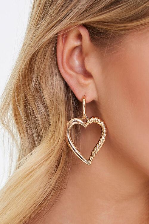 Heart Cutout Drop Earrings, image 1