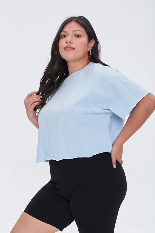Plus Size Cropped Tee, image 1