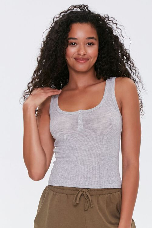 Heathered Pajama Tank Top, image 1